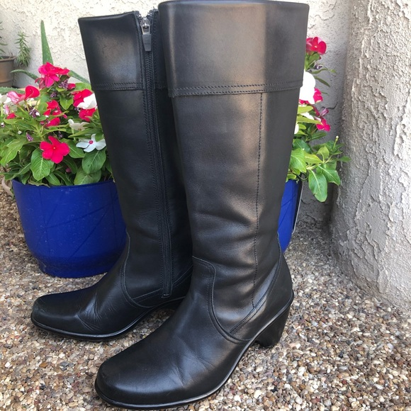 Dansko Shoes   Tall Black Leather Boots